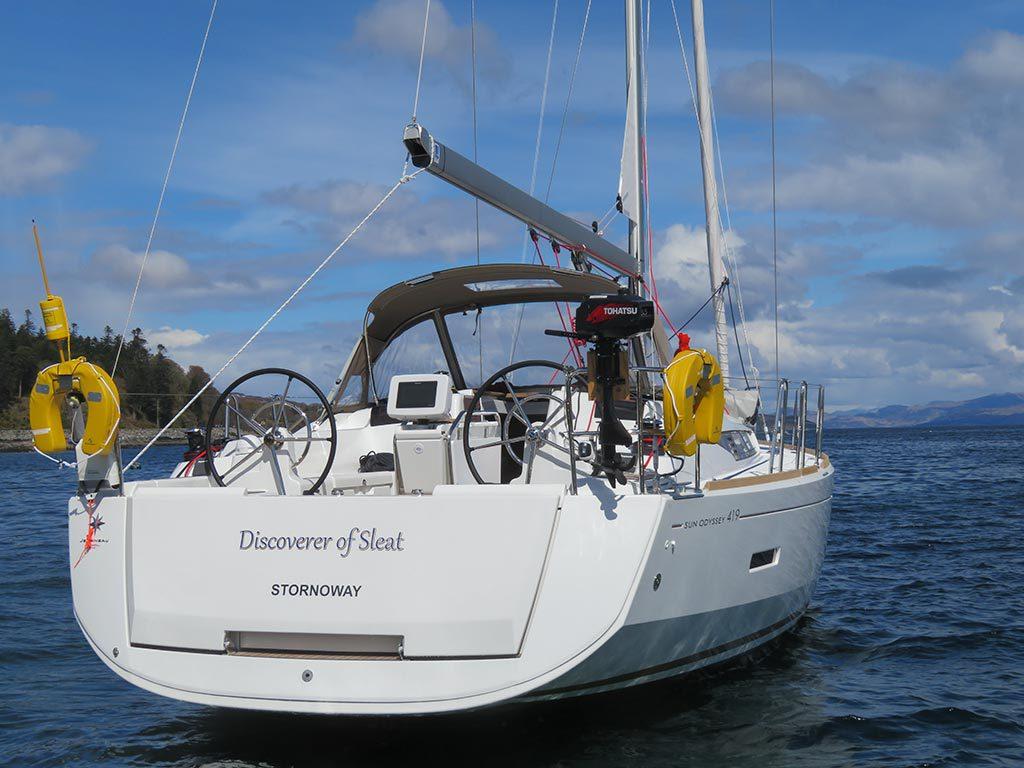 Discoverer of Sleat - a Jeanneau Sun Odyssey 419