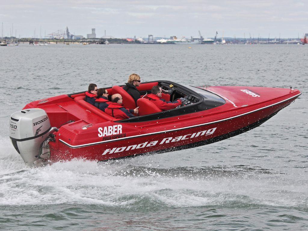 Honda 150 Race Boat - a Honda 150